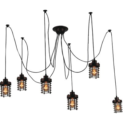 Bray 6-Light Candle-Style Chandelier Finish: Black