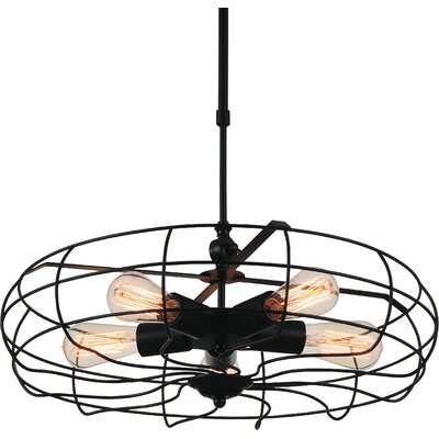 Pamela 5-Light Foyer Pendant Finish: Rust