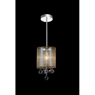 1-Light Mini Pendant Shade Color: Clear Gold