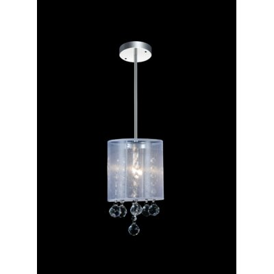 1-Light Mini Pendant Shade Color: Clear White