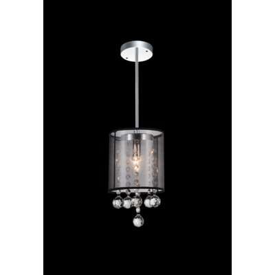 1-Light Mini Pendant Shade Color: Smoke Black