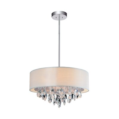 Dash 4-Light Drum Chandelier Shade Color: Off White