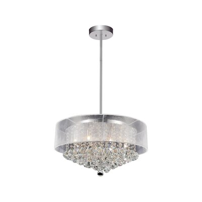 12-Light Drum Pendant Shade Color: Clear White