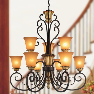 Presley 9-Light Shaded Chandelier