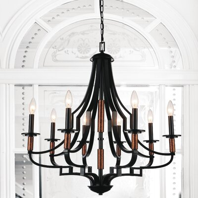 Scarlet 8-Light Candle-Style Chandelier