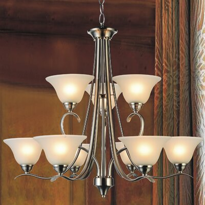 Cosmo 9-Light Shaded Chandelier