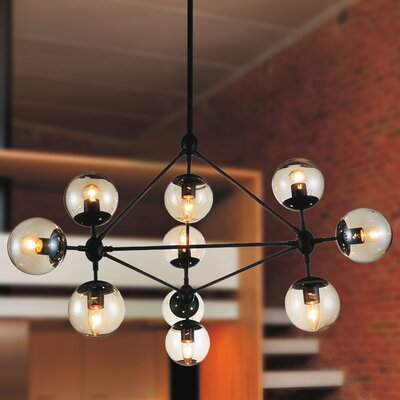 Glow 10-Light Sputnik Chandelier