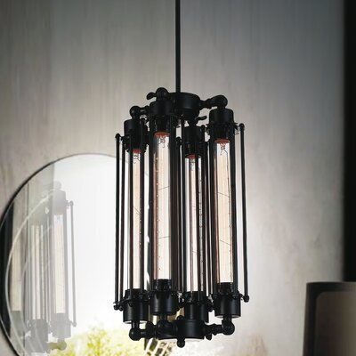 Kiera 4-Light Mini Pendant Finish: Black