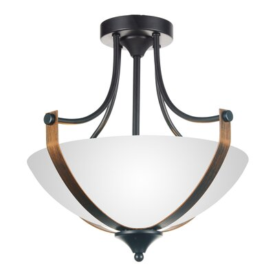 Solis 3-Light Semi Flush Mount