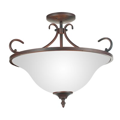 Maddy 3-Light Semi Flush Mount