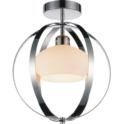 Dahlia 1-Light Flush Mount Finish: Satin Nickel