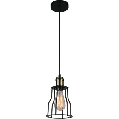 Graham 1-Light Mini Pendant Finish: Black