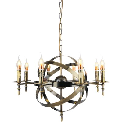 Troy 8-Light Candle-Style Chandelier Finish: Satin Nickel
