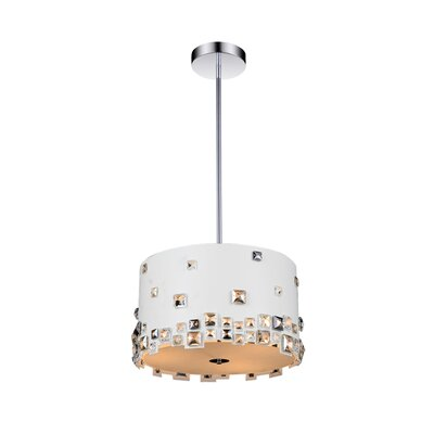 Shadow 5-Light Drum Pendant Shade Color: White