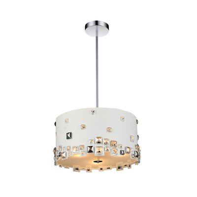 Shadow 8-Light Drum Chandelier Shade Color: White