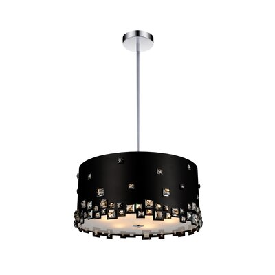 Shadow 8-Light Drum Chandelier Shade Color: Black