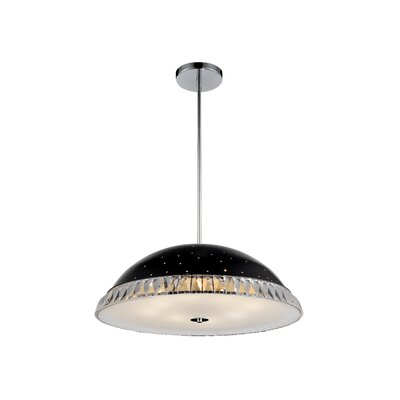 Dome 8-Light Bowl Pendant Shade Color: Black, Size: 8 - 48 H x 24 W x 24 D