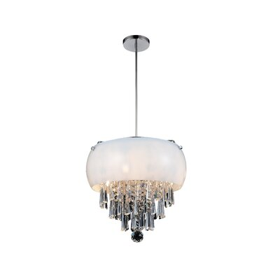 4-Light Drum Pendant Shade Color: White