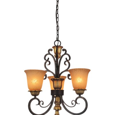 Presley 3-Light Shaded Chandelier