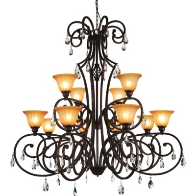 Shakira 12-Light Shaded Chandelier