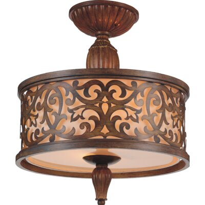 Nicole 3-Light Semi Flush Mount