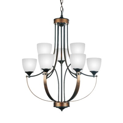 Solis 9-Light Shaded Chandelier