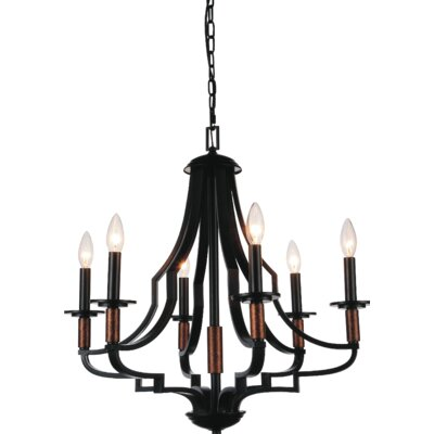 Scarlet 6-Light Candle-Style Chandelier