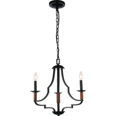 Scarlet 3-Light Candle-Style Chandelier