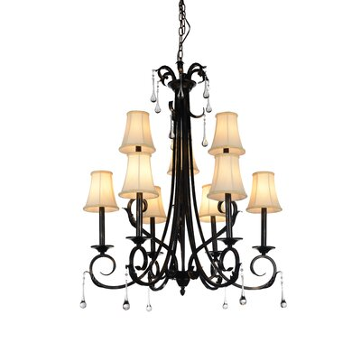 Marilyn 9-Light Shaded Chandelier