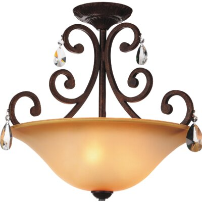 Shakira 3-Light Semi Flush Mount