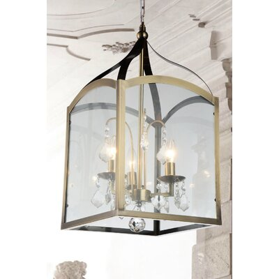 Save 3-Light Foyer Pendant Finish: Antique Bronze