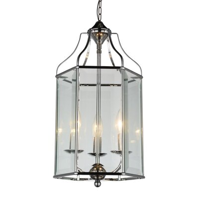 Desire 3-Light Foyer Pendant Finish: Polished Chrome