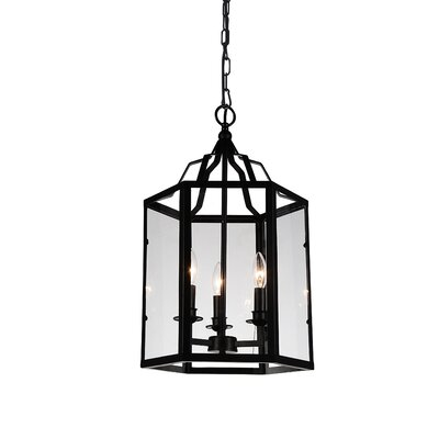 Desire 3-Light Foyer Pendant Finish: Black