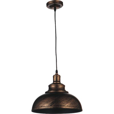 Vogel 1-Light Inverted pendant Size: 81 H x 15 W x 15 D