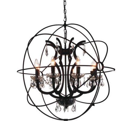 Bird Cage 8-Light Globe Pendant
