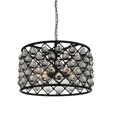 Barker 5-Light Drum Pendant Size: 20 H x 20 W x 20 D