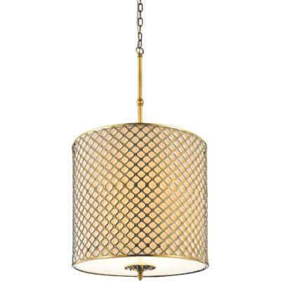 Gloria 8-Light Drum Pendant Size: 108 H x 18 W x 18 D