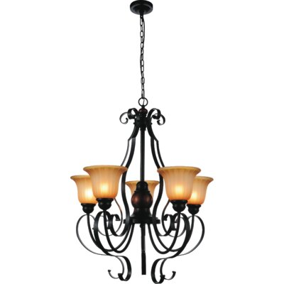 Stella 5-Light Shaded Chandelier