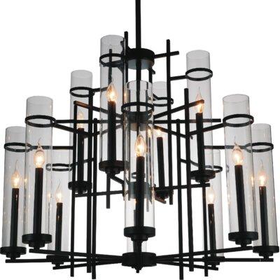 Sierra 12-Light LED Candle-Style Chandelier Size: 130 H x 38 W x 38 D