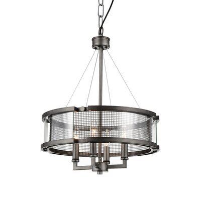 Monroe 4-Light Drum Chandelier