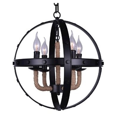 Cicero 4-Light Candle-Style Chandelier