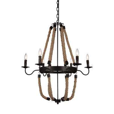 Dharla 6-Light Candle-Style Chandelier