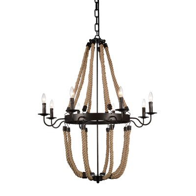 Dharla 8-Light Candle-Style Chandelier