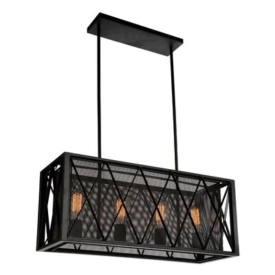 Tapedia 4-Light Kitchen Island Pendant