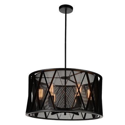 Tapedia 6-Light Drum Pendant