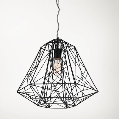 Bagheera 1-Light Geometric Pendant Size: 13 H x 16 W x 16 D
