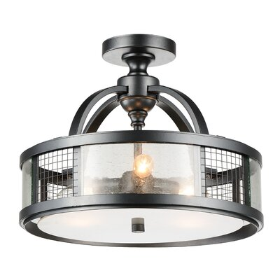 Quinn 3-Light Semi Flush Mount