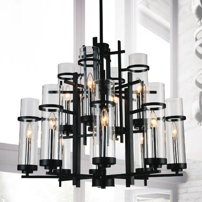 Sierra 12-Light LED Candle-Style Chandelier Size: 123 H x 30 W x 30 D