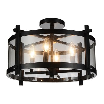 Sierra 4-Light LED Semi Flush Mount