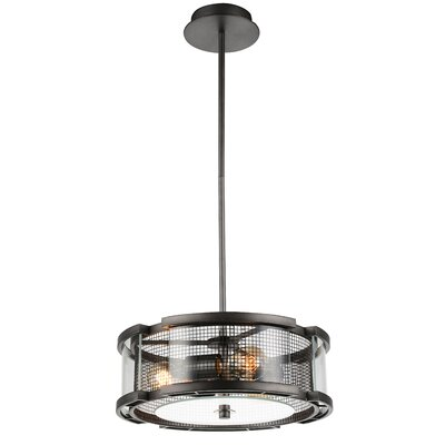 Monroe 3-Light Drum Pendant